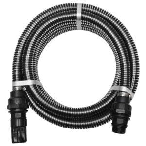 Mangueira de sucção com conectores 4 m 22 mm preto - PORTES GRÁTIS