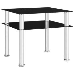 Mesa de apoio 45x50x45 cm vidro temperado preto - PORTES GRÁTIS