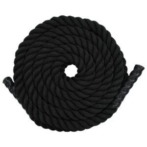 Corda ondulatória 15 m poliéster preto  - PORTES GRÁTIS