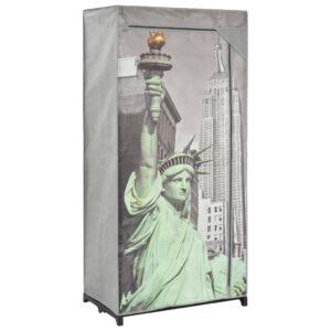 Roupeiro Nova Iorque 75x45x160 cm tecido - PORTES GRÁTIS