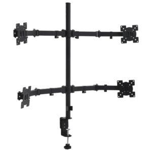Suporte de monitor 4 braços p/ montagem na secretária 13