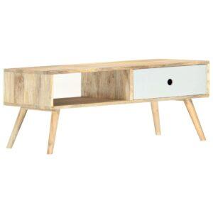 Mesa de centro 90x50x40 cm madeira de mangueira maciça - PORTES GRÁTIS