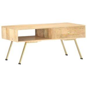 Mesa de centro 95x50x42 cm madeira de mangueira maciça - PORTES GRÁTIS