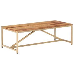 Mesa de centro 120x60x40 cm madeira de sheesham maciça - PORTES GRÁTIS