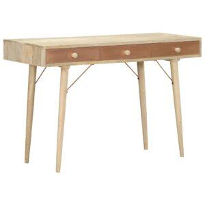 Mesa consola 118x45x76 cm madeira de mangueira maciça - PORTES GRÁTIS