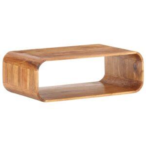 Mesa de centro 90x50x30 cm madeira de acácia maciça - PORTES GRÁTIS