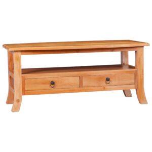 Mesa de centro 90x50x40 cm madeira de mogno maciça - PORTES GRÁTIS