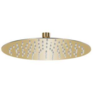 Cabeça de chuveiro redonda 25 cm aço inoxidável dourado - PORTES GRÁTIS