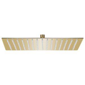 Cabeça de chuveiro quadrada 40x40 cm aço inoxidável dourado - PORTES GRÁTIS