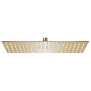 Cabeça de chuveiro retangular 50x30 cm aço inoxidável dourado - PORTES GRÁTIS