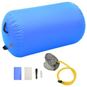 Rolo de ginástica/yoga insuflável com bomba 100x60 cm PVC azul - PORTES GRÁTIS