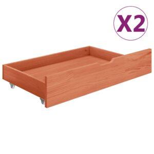 Gavetas de cama 2 pcs madeira de pinho maciça castanho mel - PORTES GRÁTIS
