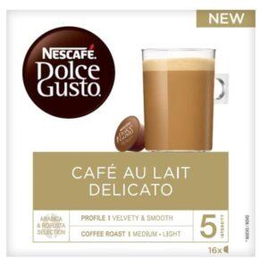 16 Cápsulas de café Nescafé Dolce Gusto Au Lait Delicato