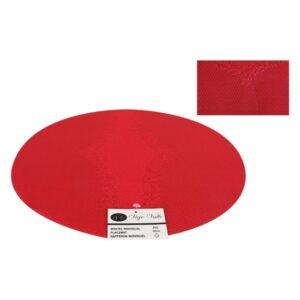 Individuais PVC Redondo (38 cm) Vermelho