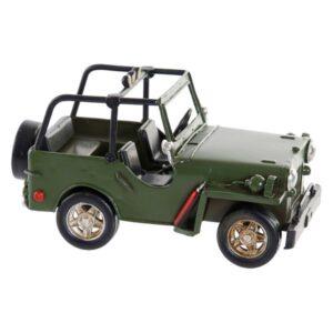 Fabricado à Mão - Veículo Dekodonia Jeep Decoração Vintage (17 x 9 x 9 cm)