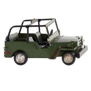 Fabricado à Mão - Veículo Dekodonia Jeep Decoração Vintage (24 x 13 x 12 cm)