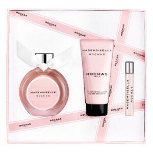 Conjunto de Perfume Mulher Mademoiselle Rochas Rochas EDP (3 pcs)