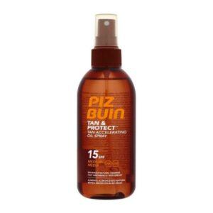 Óleo Bronzeador Tan & Protect Piz Buin Spf 15 - 150 ml