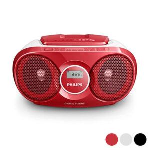 Rádio CD Philips AZ215/12 3W Prateado