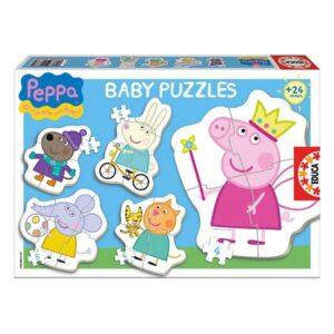 Set de 5 Puzzles Baby Peppa Pig Educa