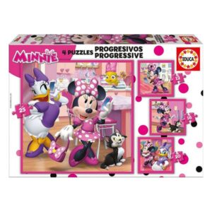 Puzzle Minnie Mouse Happy Helpers Progressivo 12-16-20-25 Peças