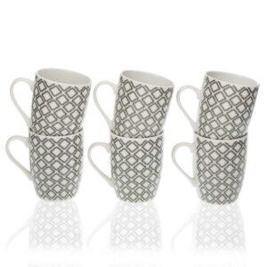 Conjunto de 6 Chávenas Porcelana