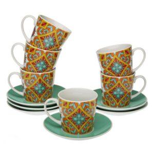 Conjunto de 6 Chávenas de Café Aubrey Porcelana