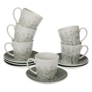 Conjunto de 6 Chávenas de Café Revery Porcelana