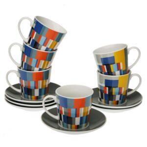 Conjunto de 6 Chávenas de Café Etna Porcelana