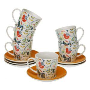 Conjunto de 6 Chávenas de Café Manaia Porcelana