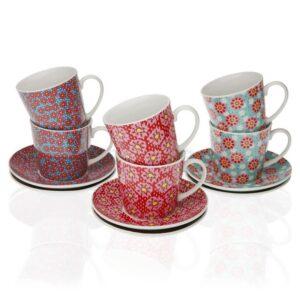 Conjunto de 6 Chávenas de Café Rozanne Porcelana