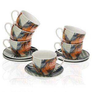 Conjunto de 6 Chávenas de Café Saona Porcelana