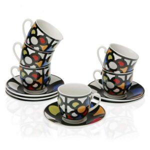 Conjunto de6  Chávenas de Café Porcelana