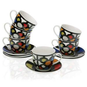 Conjunto de 6 Chávenas de Café Porcelana