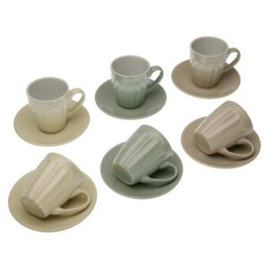 Conjunto de 6 Chávenas de Café Lydia Grés