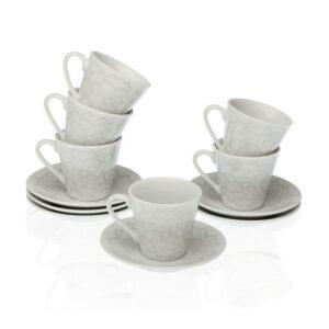 Conjunto de 12 Chávenas de Café Porcelana