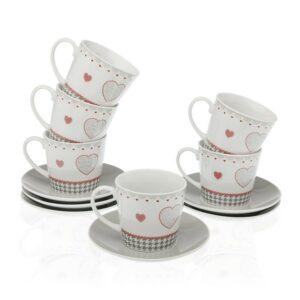 Conjunto de 12 Chávenas de Café Kamira Porcelana