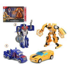 2 Super Robôs Transformável Azul Amarelo 111575