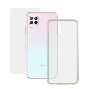 Protetor de vidro temperado para o telemóvel + Estojo para Telemóvel Huawei P40 Pro Contact 9H Transparente