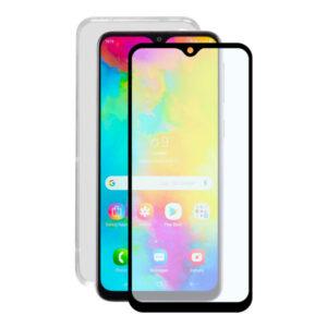 Protetor de vidro temperado para o telemóvel + Estojo para Telemóvel Samsung Galaxy M20 Contact