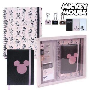 Set de Papelaria Mickey Mouse 8 Peças Rosa
