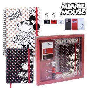 Set de Papelaria Mickey Mouse 8 Peças Vermelho