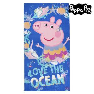 Toalha de Praia Peppa Pig 75502 Microfibra Azul marinho