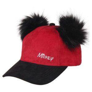 Boné Mickey Mouse Vermelho Preto (56 cm)