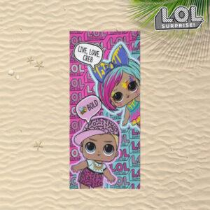 Toalha de Praia LOL Surprise! Cor de Rosa (70 x 140 cm)