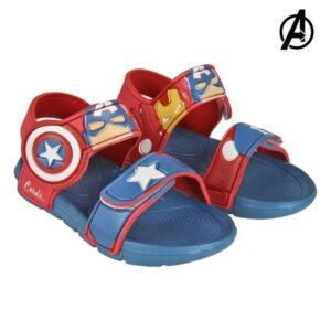 Sandálias de Praia The Avengers Vermelho 22-23