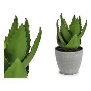 Planta Decorativa Aloé Vera Plástico (14 x 23 x 14 cm)