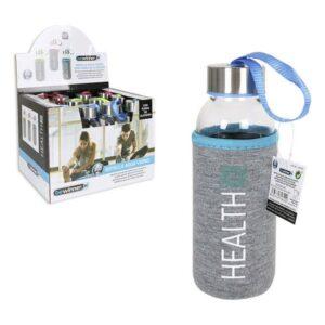 Garrafa de água Bewinner Health Vidro Capa Algodão (300 ml)