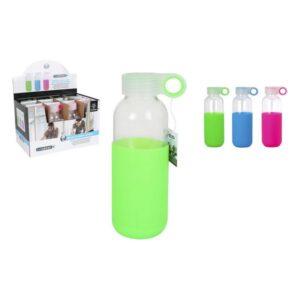 Garrafa de água Bewinner Vidro Capa Silicone (400 ml)