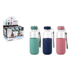 Garrafa de água Bewinner Vidro Capa Silicone (300 ml)